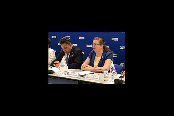 Екатерина Шугрина выступила на селекторном совещании, проводимом ВСМС