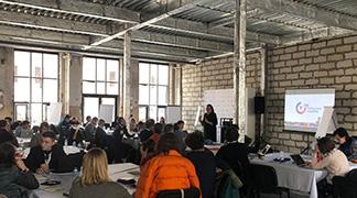 Екатерина Шугрина выступила перед участниками проекта 100 городских лидеров