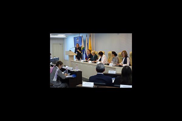 Екатерина Шугрина выступила перед руководителями муниципальных контрольно-счетных органов